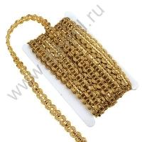 Тесьма декоративная с пайетками 1,5 см 7827 в ассортименте (золото)
