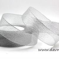 Лента парча 4 см в ассортименте (серебро)
