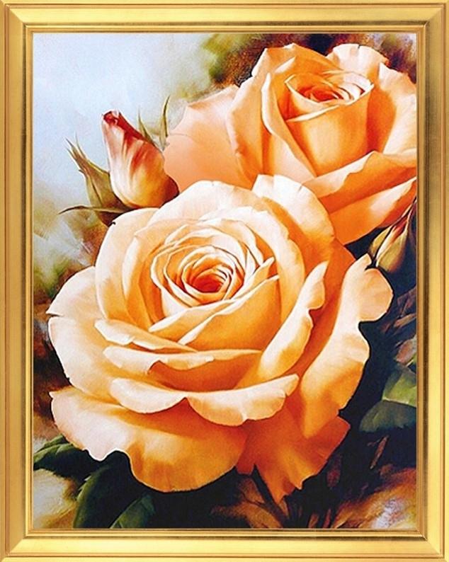 Картина по номерам WB 2608 Розы 30х40 см