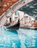 Алмазная мозаика на подрамнике полной выкладки круглые стразы SGA 2352 Венеция 40х50 см
