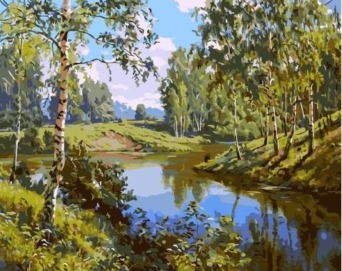 Картина по номерам GX 3521 Русская природа 40х50 см
