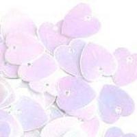 Пайетки сердечко 10г Корея 10х11-11 (10х11-11 бело-розовые)