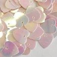 Пайетки сердечко 10г Корея 10х11-11 (10х11-16 персиковые)