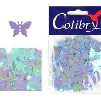 Пайетки Бабочка 10г Корея (б-21 голубой)