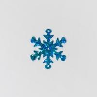 Пайетки 10гр 25мм Снежинка голография (бирюзовый В14)