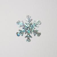 Пайетки 10гр 25мм Снежинка голография (серебро В8)