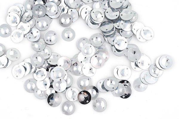 Пайетки TBY-FLK045 8мм 10гр 001 серебряный