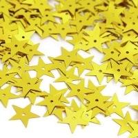 Пайетки Звездочка TBY-FLK172 13мм 10гр (А007 желтый)