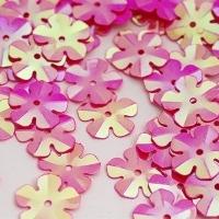 Пайетки Цветочек TBY-FLK465 14мм 10гр (028 яр.розовый)