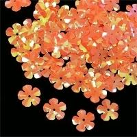 Пайетки Цветочек TBY-FLK465 14мм 10гр (327 оранжевый)