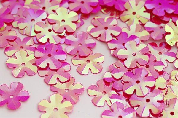 Пайетки Цветочек TBY-FLK465 14мм 10гр