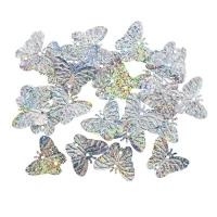 Пайетки Бабочки 18х23мм Астра 10г (50112 серебро голограмма 7700479)
