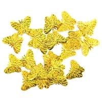 Пайетки Бабочки 18х23мм Астра 10г (А20 золото голограмма 7700479)