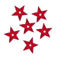 Пайетки Звездочки 13мм Астра 10г (50103 красный голограмма 7721052)