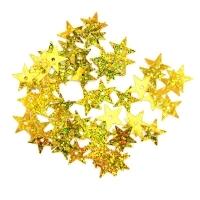 Пайетки Звездочки 13мм Астра 10г (А20 золото голограмма 7721052)
