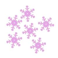 Пайетки Снежинки 13мм Астра 10г (119 розовый прозрачный 7721051)