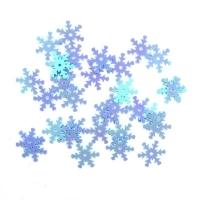Пайетки Снежинки 13мм Астра 10г (17 св.бирюзовый 7721051)