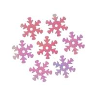 Пайетки Снежинки 13мм Астра 10г (319 св.розовый перламутр 7721051)