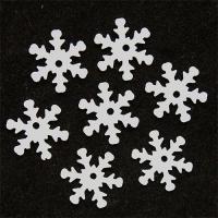 Пайетки Снежинки 13мм Астра 10г (L010 белый 7721051)