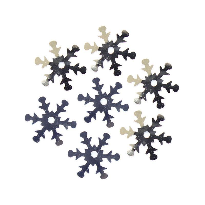 Пайетки Снежинки 13мм Астра 10г