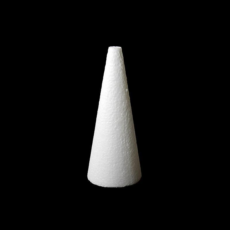 Конус 15х6см пенопластовая заготовка 450-251