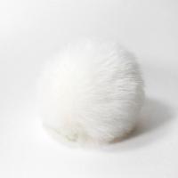 Помпон 12см искусственный в ассортименте (белый)