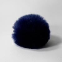 Помпон 12см искусственный в ассортименте (синий)