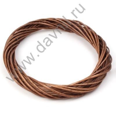 Ротанговый венок коричневый 25 см