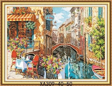 Набор для вышивки крестом XA 309 Венеция 40х50 см