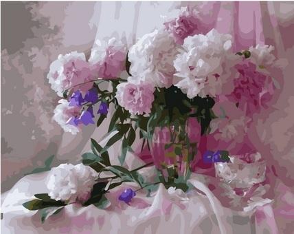 Картина по номерам GX 36464 Пионы 40х50 см