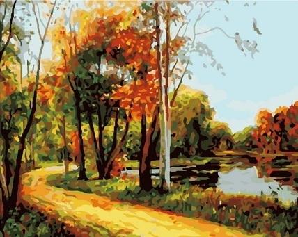 Картина по номерам GX 7034 Осень 40х50 см