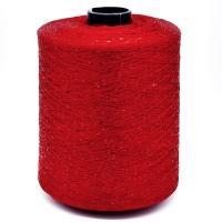 Пряжа Пайетки (Paillettes) 001 красный, 50г