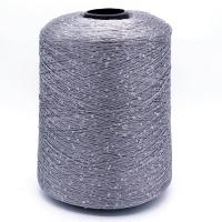 Пряжа Пайетки (Paillettes) 062 серый, 50г