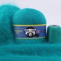 Пряжа Пух норки (Long mink wool) синяя этикетка (8851 бирюзовый)
