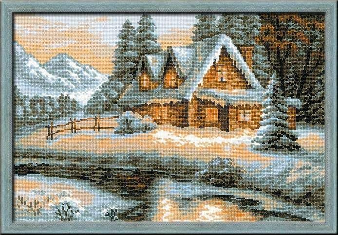 Набор для вышивания-1080 Зимний пейзаж 38х26 см Риолис