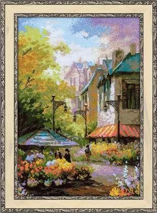 Набор для вышивания 1306 Цветочная улица 26х38 см Риолис