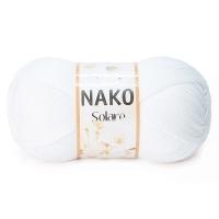 Пряжа Nako Solare (208 белый)