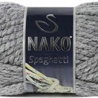 Пряжа Nako Spaghetti (Пряжа Nako Spaghetti, цвет 23625 т. серый)