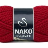 Пряжа Nako Spaghetti (Пряжа Nako Spaghetti, цвет 3641 карминно-красный)
