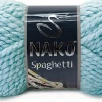 Пряжа Nako Spaghetti (Пряжа Nako Spaghetti, цвет 6199 голубой)