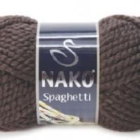 Пряжа Nako Spaghetti (Пряжа Nako Spaghetti, цвет 4987 горький шоколад)