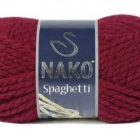 Пряжа Nako Spaghetti (Пряжа Nako Spaghetti, цвет 3630 гнилая вишня)