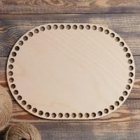 Заготовка для вязания Овал параллельный донышко 28х21 см, d=10мм фанера 3 мм