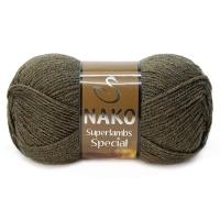 Пряжа Nako Superlambs Special (23520 кофейный меланж)
