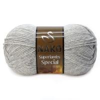 Пряжа Nako Superlambs Special (195 светло-серый)