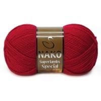 Пряжа Nako Superlambs Special (4426 красный)