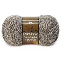 Пряжа Nako Superlambs Special (21264 св.кофе/крем мулине)