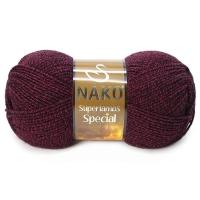 Пряжа Nako Superlambs Special (21283 красно-черный меланж)
