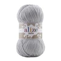 Пряжа Ализе Белла 100 (21 серый)