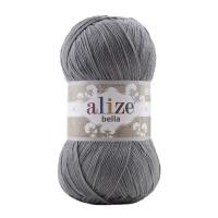 Пряжа Ализе Белла 100 (87 угольно-серый)